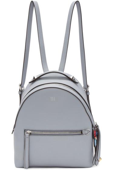Fendi - Blue Mini Messenger Backpack