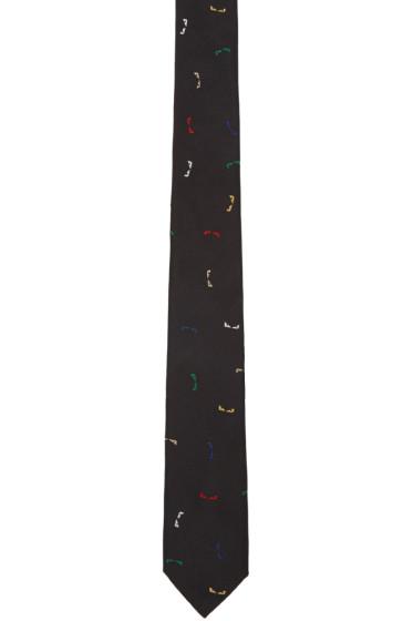 Fendi - Black Skinny Bag Bug Tie