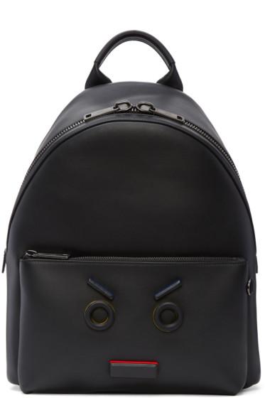 Fendi - Black 'Fendi Faces' Backpack