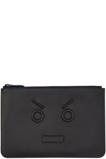 Fendi - Black 3D 'Fendi Faces' Pouch