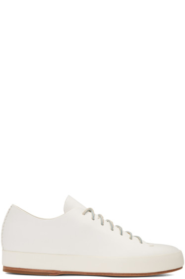 Feit - White Hand Sewn Low Sneakers