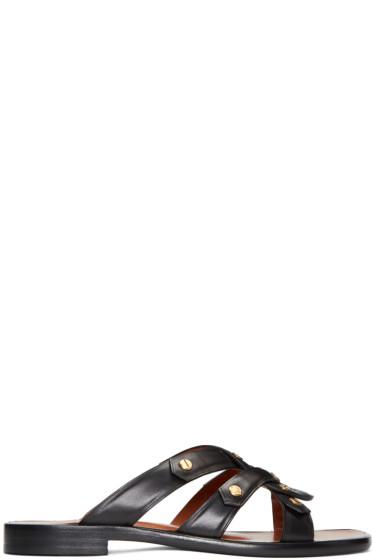 Rosetta Getty - Black Twisted Sandals
