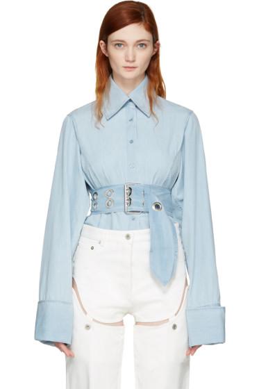 Marques Almeida - Blue Asymmetric Shirt
