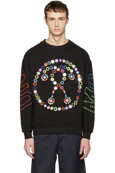Moschino - Black Embroidered Mirror Logo Pullover
