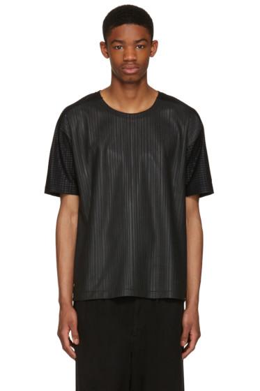 Issey Miyake Men - Black Textured T-Shirt