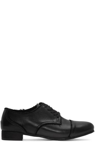 Y's - Black Leather Derbys