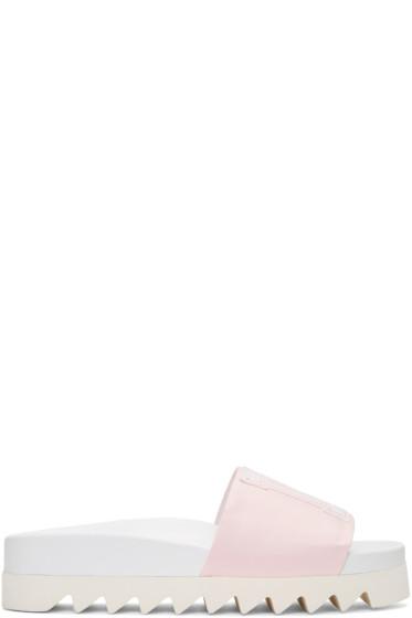 Joshua Sanders - Pink Satin NY Sandals
