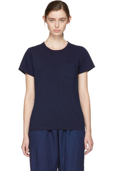 Blue Blue Japan - Indigo Crewneck Pocket T-Shirt