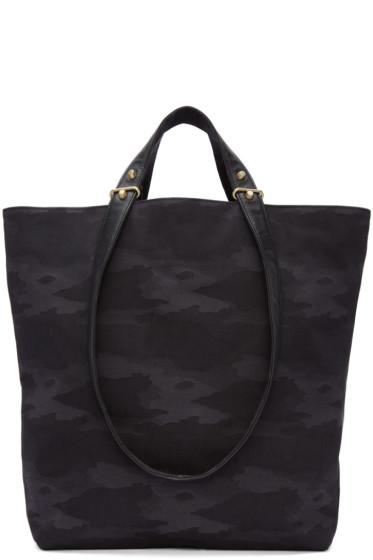 Haerfest - Black Jacquard Camouflage H6 Tote Bag