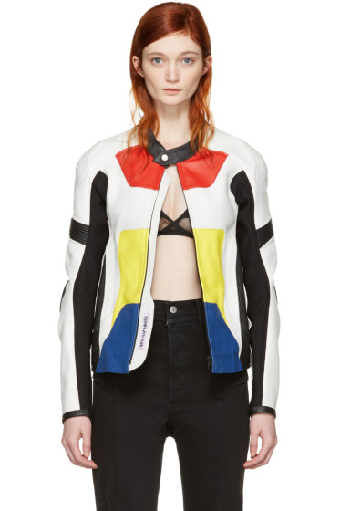 Alyx - Multicolor Leather Moto Jacket