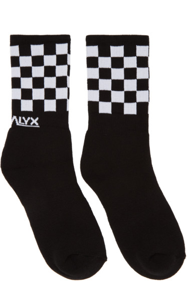 Alyx - Black Checkered Socks