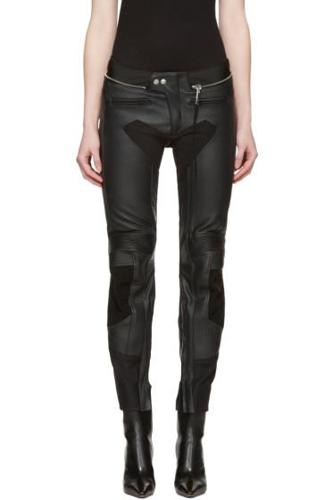 Alyx - Black Leather Moto Trousers