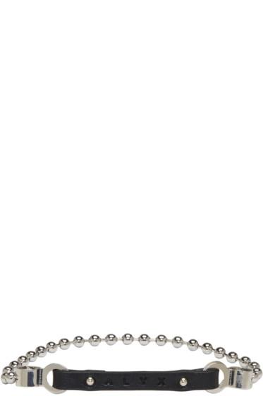 Alyx - ブラック ボール チェーン ロゴ ブレスレット