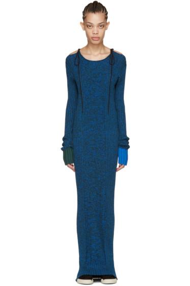 Ports 1961 - Blue Long Sleeve Knit Dress