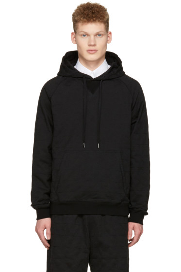 Ports 1961 - Black Embroidered Stars Hoodie