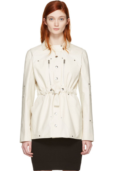 Courrèges - Ivory Belt Zip Jacket