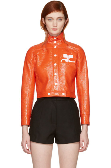 Courrèges - Orange Vinyl Iconic Short Jacket