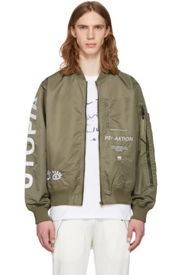 Perks and Mini - Green Utopiates Bomber Jacket