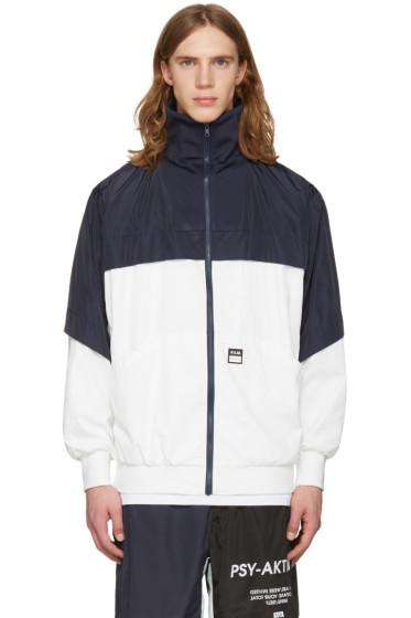 Perks and Mini - White & Navy 'Psy-Aktion' Jacket