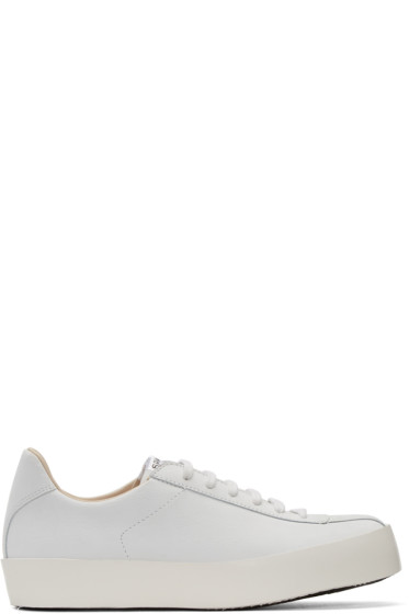 Spalwart - White Leather Court Sneakers