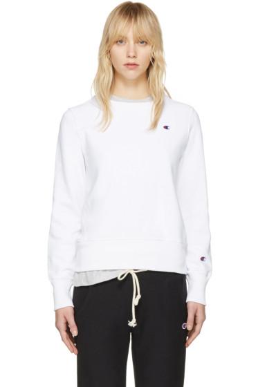 Champion Reverse Weave - White Logo Patch Pullover