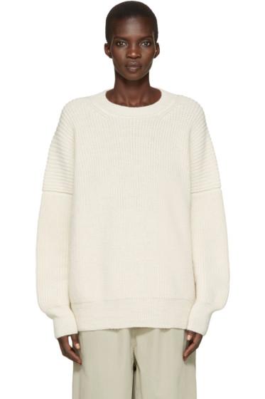 Lauren Manoogian - Off-White Alpaca Fisherman Sweater