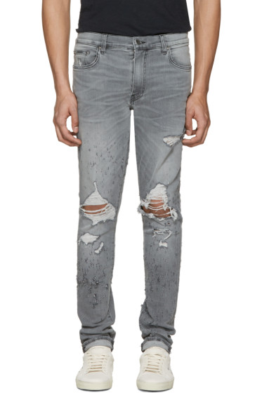 Amiri - Grey Shotgun Skinny Jeans