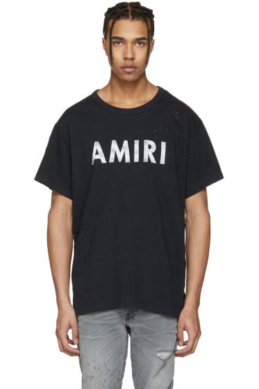 Amiri - Black Vintage Logo T-Shirt