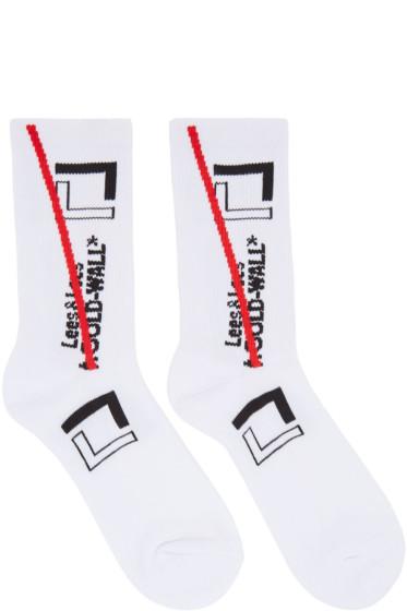 A-Cold-Wall* - White Logo Socks