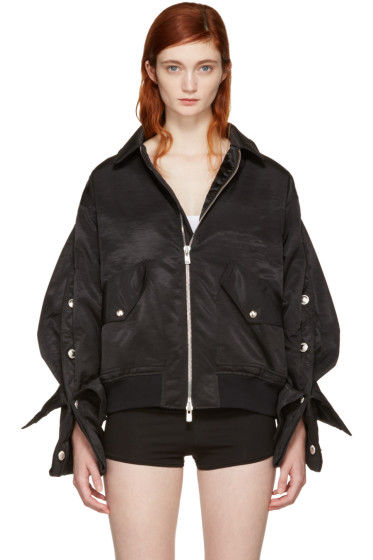 Y/Project - Black Popper Bomber Jacket