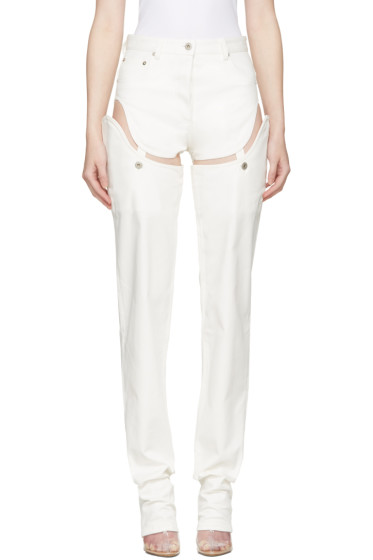 Y/Project - Off-White Cut-Out Jeans