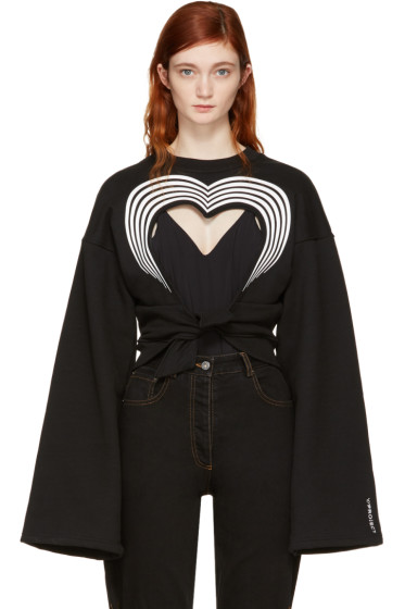Y/Project - Black Heart Cut-Out Sweatshirt
