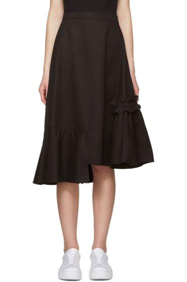 Shushu/Tong - Black Asymmetric Skirt