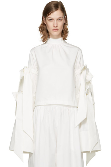 Shushu/Tong - White Four Bows Blouse
