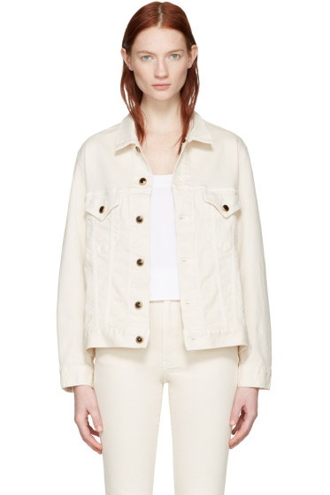 Khaite - Ivory Cate Denim Jacket