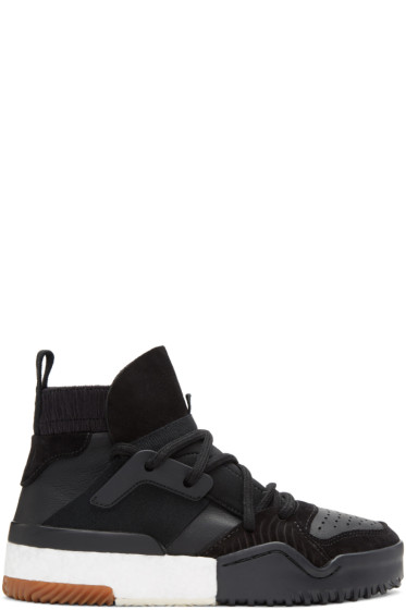 adidas Originals by Alexander Wang - Black BBall High-Top Sneakers