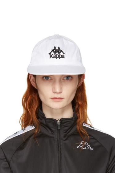 Kappa - SSENSE Exclusive White Logo Cap