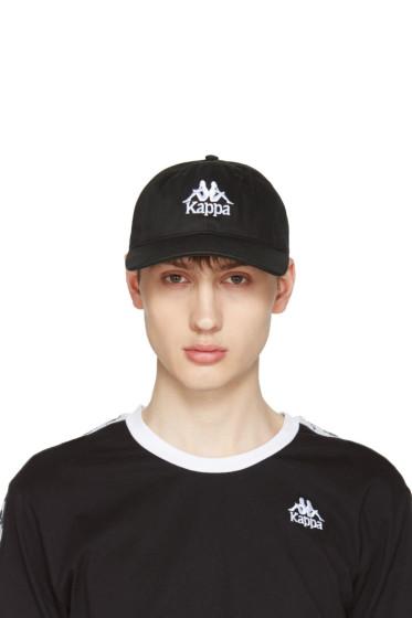 Kappa - SSENSE Exclusive Black Logo Cap