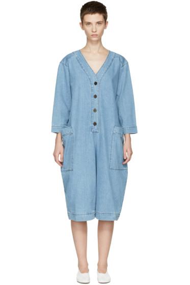 69 - Blue Denim Summer Cover-Up Jumpsuit