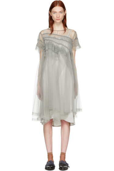 Chika Kisada - グレー チュール ドレス