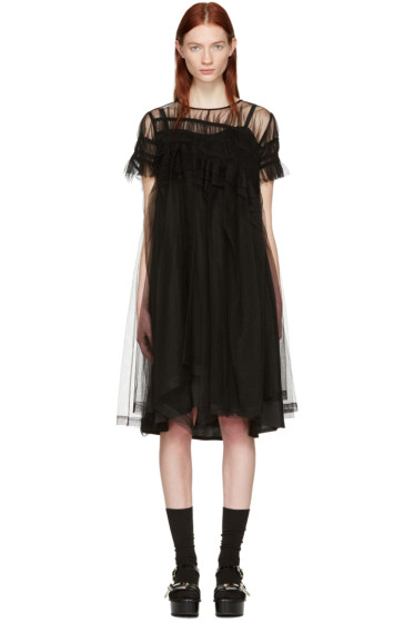 Chika Kisada - ブラック チュール ドレス
