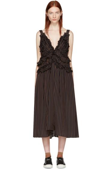 Chika Kisada - ネイビー ストライプ ドレス