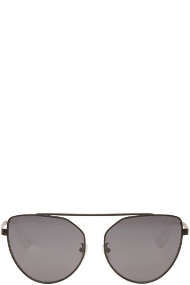 McQ Alexander McQueen - Black Cat Eye Sunglasses