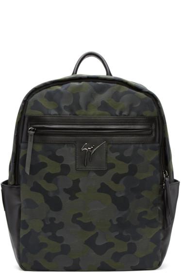 Giuseppe Zanotti - Green Camo Jacquard Backpack