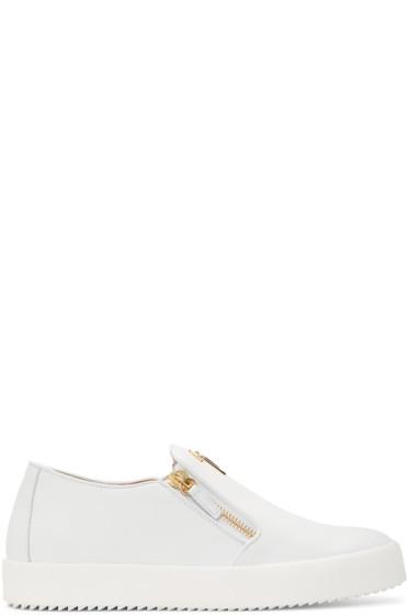 Giuseppe Zanotti - White May London Slip-On Sneakers