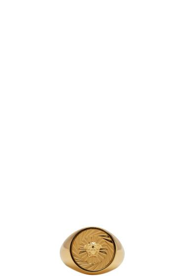 Versace - ゴールド ラウンド メドゥーサ リング
