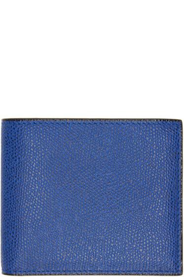 Valextra - Blue 6CC Bifold Wallet