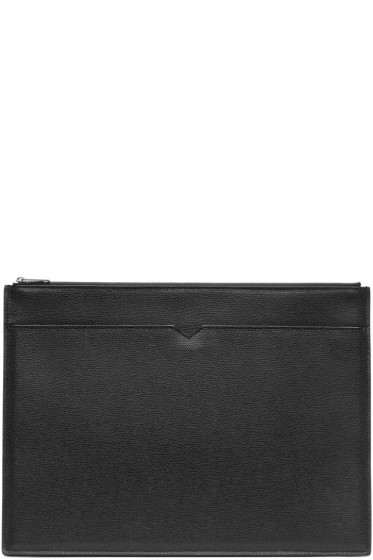 Valextra - Black V Document Holder