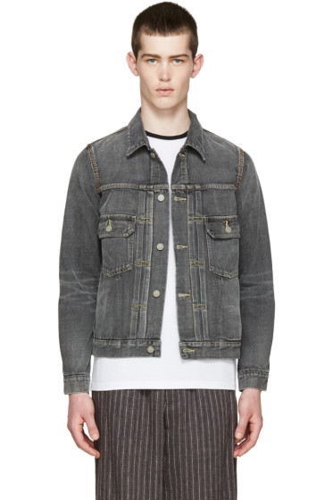Visvim - Grey Denim Damaged Jacket