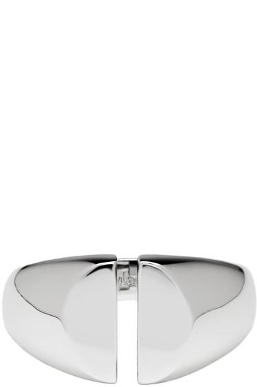 Maison Margiela Fine Jewellery - Silver Chevalière Split Ring